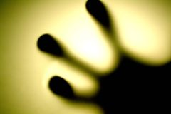 Fingertips radiance. A special view of fingertips, radiance background royalty free stock image