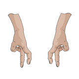 Fingerwegvektor Lizenzfreie Stockfotografie