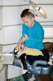 Fingimiento ser un dentista Fotografía de archivo