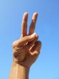 2 fingrar Arkivfoton