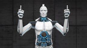 Fingrar för robot två royaltyfri illustrationer
