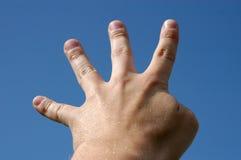 fingrar fyra Fotografering för Bildbyråer