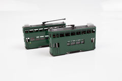 Fingure of double decker tram. The tiny of double decker tram at hk royalty free stock images