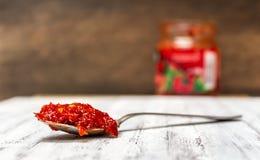Finhackad deg för varm peppar Fotografering för Bildbyråer
