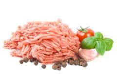 finhackad meat Arkivfoton