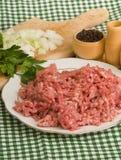 finhackad meat royaltyfri foto