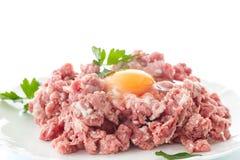 finhackad tät meat förbereder klart till upp Royaltyfria Bilder