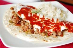 finhackad tortilla för meat mexikan Royaltyfria Foton