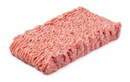 Finhackat griskött och nötkött som isoleras på vit bakgrund Arkivbild