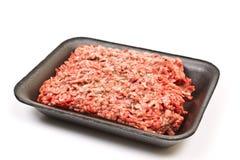 Finhackat nötkött i en packe Arkivfoto