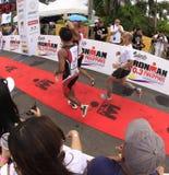 Fini de chemin de passage de marathon d'Ironman Philippines Photographie stock libre de droits