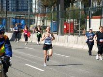 Fini du marathon de Vancouver photos libres de droits