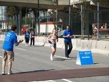 Fini du marathon de Vancouver Photo libre de droits