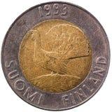 Fini pièce de monnaie de 10 marks finlandais Images stock