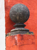 Finial coloré de montant de porte, Portmeirion Photos stock