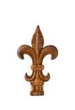 Finial de la flor de lis del hierro Imagen de archivo libre de regalías