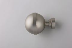 Finials for curtain cornices. Tips for curtain poles on the white background. Ending for curtain eaves. Finials for curtain cornices Stock Image