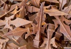 Finials oxidados do metal Imagens de Stock