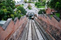 Finicular viejo en Budapest Fotos de archivo libres de regalías