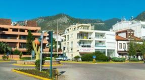 Finike, Turquie - 20 juin 2014 Vue générale de la ville en été, capitale de l'élevage d'oranges Image stock