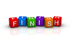 Finish. (buzzword colorful cubes series Royalty Free Stock Photos