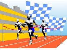 Finish. Vector illustration scene athlete on finish Stock Image