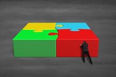 Finish assembling 3d puzzles Stock Photos