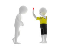 Finish badly. Judge shows red card to player Royalty Free Stock Photo