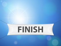 Finish banner. On a sky background Stock Image