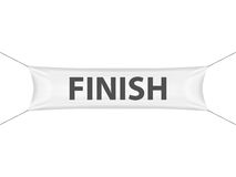 Finish banner. On a white background Royalty Free Stock Photo