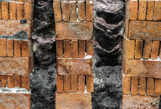 Finish burn brick Royalty Free Stock Images