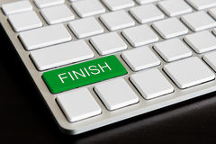 finish  Button on Computer Keyboard Royalty Free Stock Photo