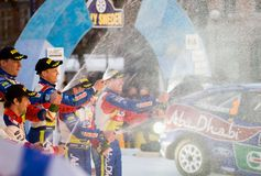 Finish Ceremony Rally Sweden 2010 Royalty Free Stock Photography