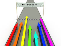 Finish with colored arrows №3 Stock Photography