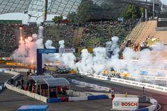 Finish of the first DTM race in Munich Royalty Free Stock Photography