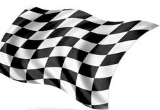 Finish flag. The finishing flag, cut out Royalty Free Stock Photos