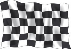 Finish flag. Race finish flag isolated on white background Royalty Free Stock Photography