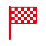 Finish flag isolated icon. Illustration design Royalty Free Stock Image