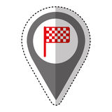 Finish flag isolated icon. Illustration design Royalty Free Stock Photography