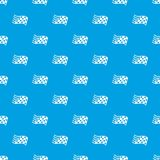 Finish flag pattern vector seamless blue. Repeat for any use Stock Photography