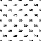 Finish flag pattern vector seamless. Repeating for any web design Royalty Free Stock Photography