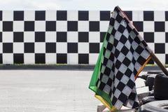 The finish flag Stock Photo
