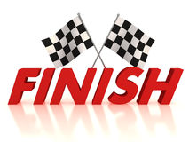 Finish flags Stock Images