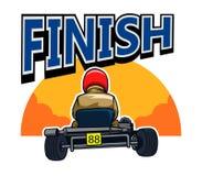 Finish Gokart Race. Vector illustration for go kart race theme Royalty Free Stock Photo