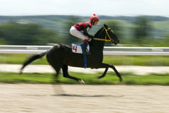 Finish horse race. PYATIGORSK,RUSSIA - JULY 16,2017:Finish horse race for the traditional prize of the Sprinterski - the oldest and the largest racecourses in Royalty Free Stock Image