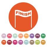 The finish icon. Finish symbol. Flat. Vector illustration. Button Set Stock Image