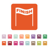 The finish icon. Finish symbol. Flat. Vector illustration. Button Set Royalty Free Stock Photography