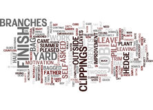Finish The Job A Lesson On Discipline Word Cloud Concept Stock Photography