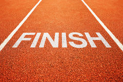 Finish lane Royalty Free Stock Images