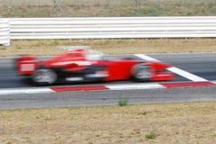 Finish line. Race car crosses the finish line Stock Photography